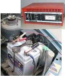 Új autó akkumulátor üzembe helyezése